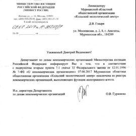 МООО «КЭЦ» исключена из реестра иностранных агентов